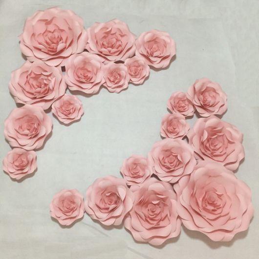Como fazer flor de papel gigante rosa