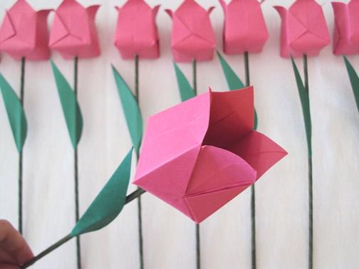 Como fazer flor de origami rosa