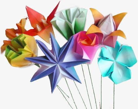Como fazer flor de origami azul