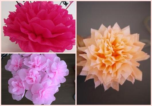 Flor de papel inspirações