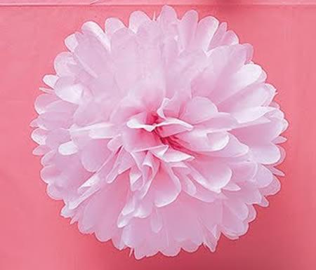 Como fazer flor de papel seda rosa