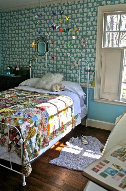 Decoração de quarto com tsuru