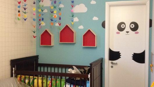 Decoração de quarto infantil com tsuru