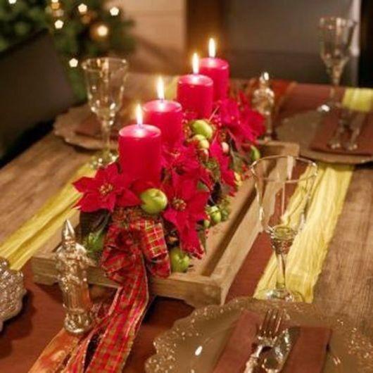 Como fazer velas de Natal vermelhas