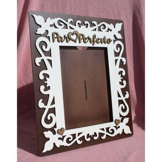 porta retrato de MDF pintado