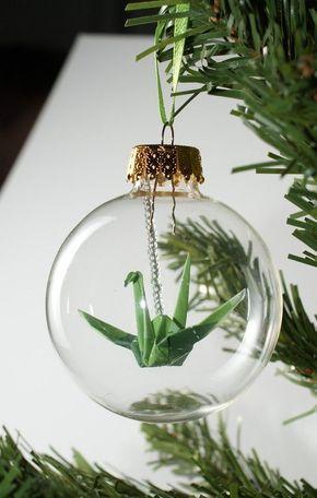 enfeite de origami para árvore