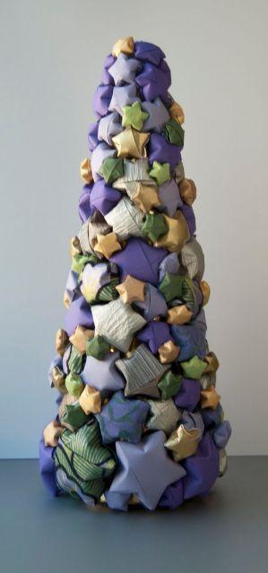 mini árvore de origami