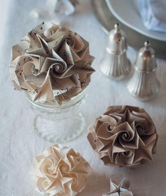 ideia com origami