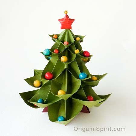 árvore de papel origami