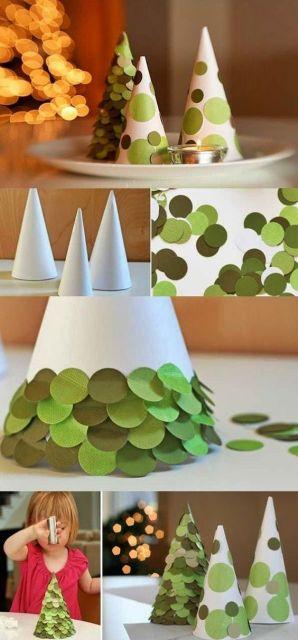 como fazer árvore de natal reciclável