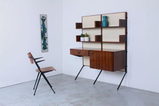 Inspiração de escrivaninha + estante para seu escritório