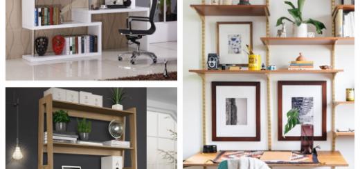 Conheça diversos modelos interessantes de escrivaninha com estante