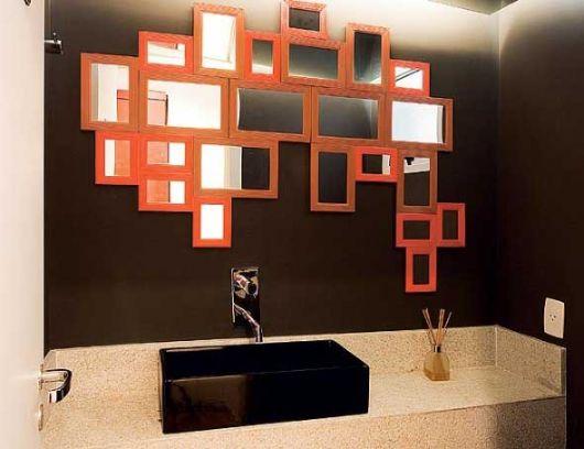 lavabo retrô com espelhos baratos