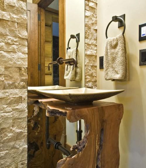 retro toilet diferente com madeira