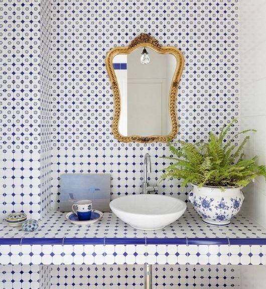 lavabo retrô minimalista