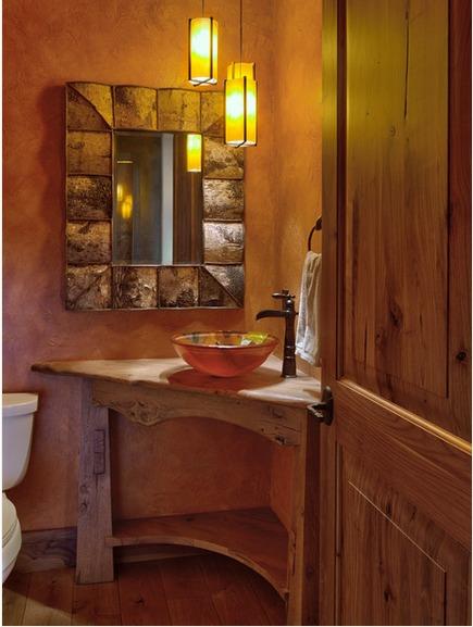 lavabos rústicos com madeira