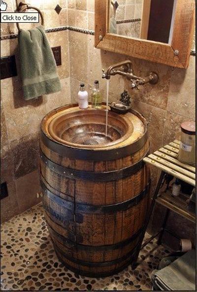 lavabos rústicos com pia de botijão