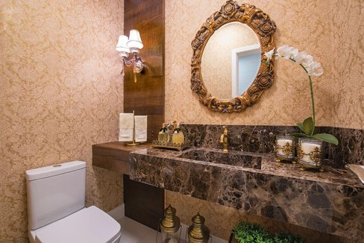 lavabos rústicos com balcão e mármore