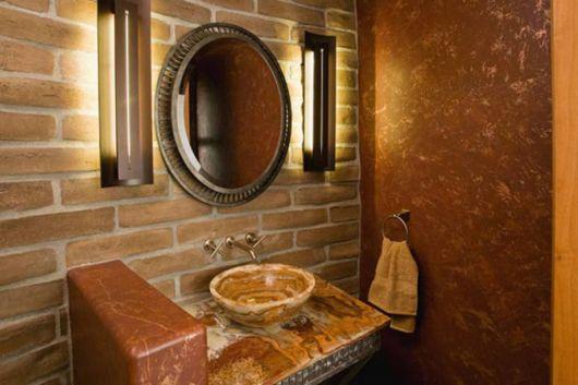 lavabos rústicos pia de granito
