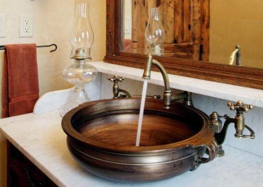 lavabos rústicos com pia conceito