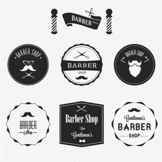 Logo para barbearia retrô