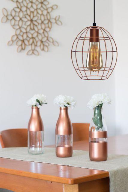 Aplique o rose gold de diferentes formas em sua casa