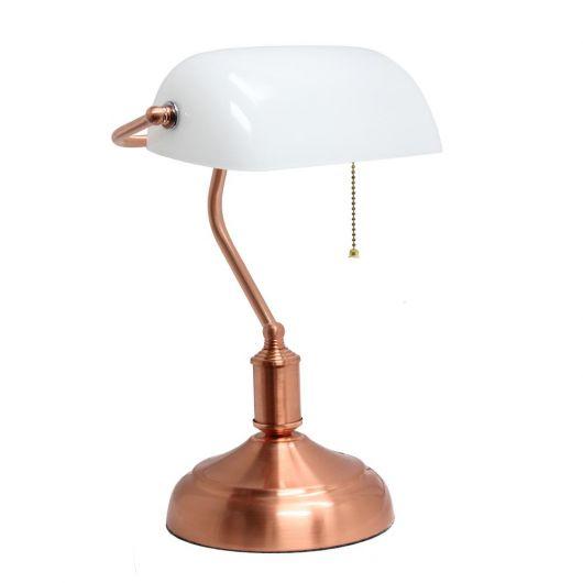Luminária de mesa rose gold com design elegante
