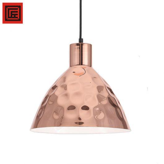 Ideia de pendente rose gold para cozinha ou sala de jantar