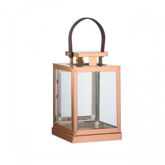 Tem até lampião rose gold para a decoração de escadas e áreas externas