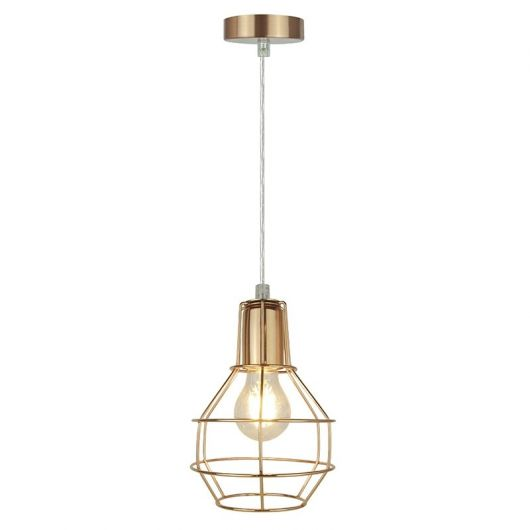 Pendente rose gold minimalista ideal para quarto
