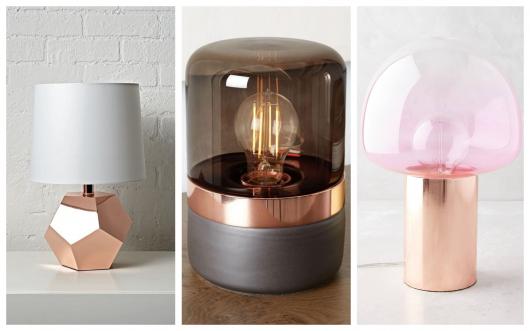 Proporcione charme à mesa ou escrivaninha com uma luminária rose gold