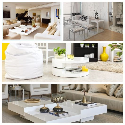 60 modelos incríveis de mesa de centro branca para ornamentar sua sala