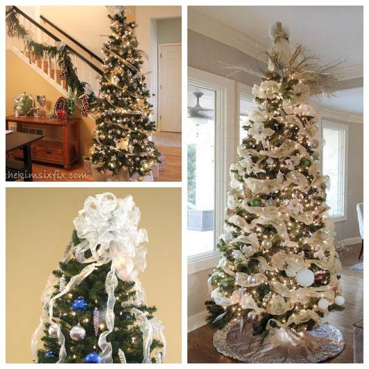 Use sua criatividade para montar uma árvore de Natal com laços deslumbrante e impecável!
