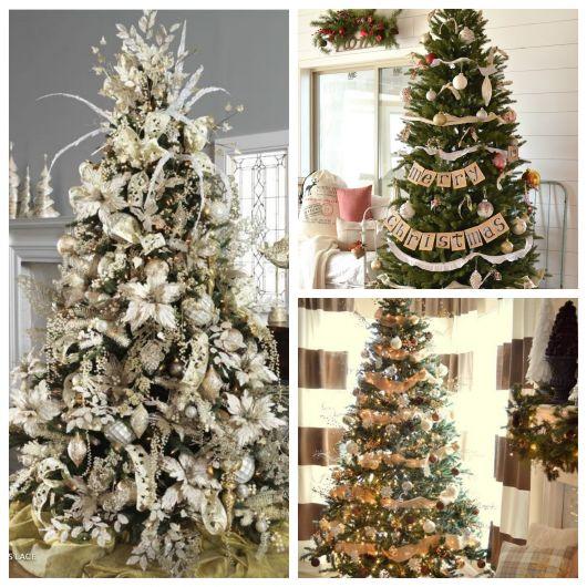 50 modelos lindos de árvore de Natal com laços + dicas para montar a sua!