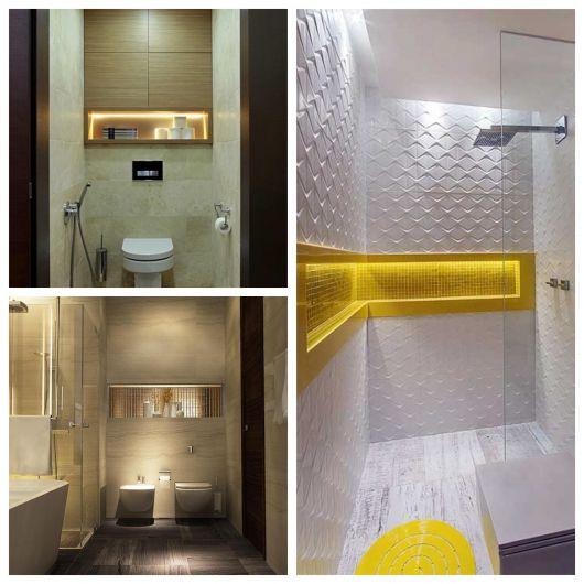 Seu banheiro ficará mais bonito e estiloso com esses nichos iluminados