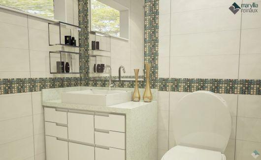 É uma ideia legal para banheiros, bem como lavabos