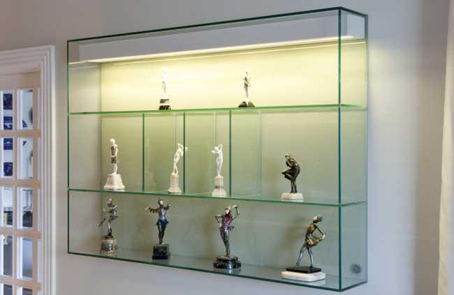 Dica de utilização de nichos de vidro na sala