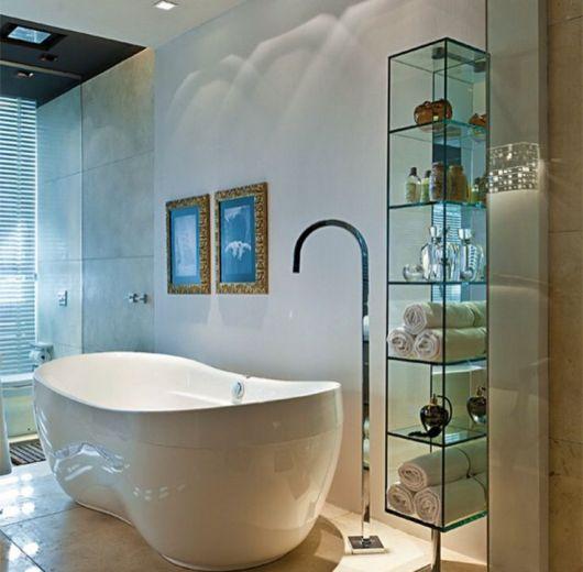 Ele pode ser uma solução para banheiros com banheira também