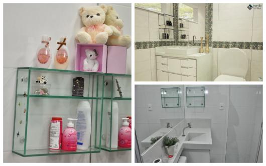 Os nichos são perfeitos organizadores de banheiros