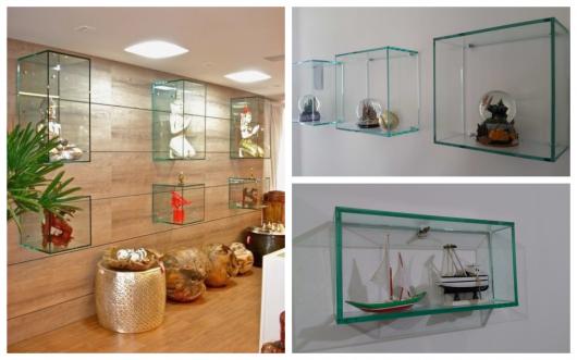 Aposte na elegância dos nichos de vidro