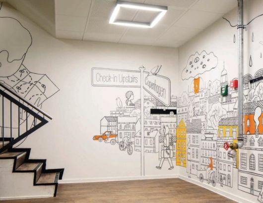 Desenhos e organogramas também se destacam nesses modelos de papel de parede