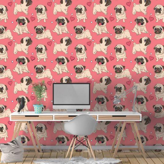 Pugs engraçadinhos para quem busca papéis de parede super descolados