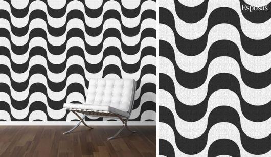 Formas em preto e branco para espaços com estilo moderno