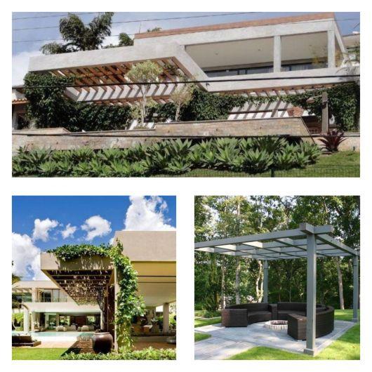 A estrutura é forte, resistente e ótima para ornamentar espaços externos