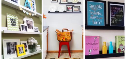 Veja como fazer uma decoração linda utilizando prateleiras para quadros