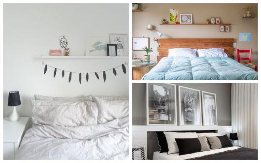 Mude a decoração de seu quarto com quadros