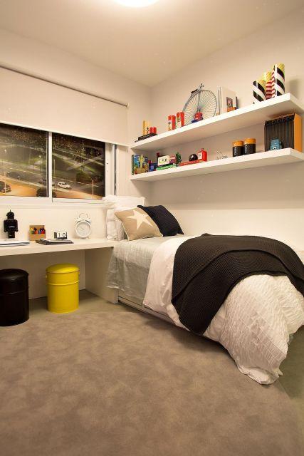 puff moderno quarto masculino