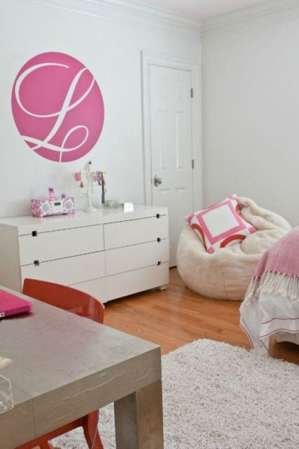 quarto feminino rosa