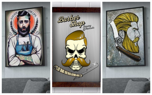 Conheça a diversidade de quadros que você pode por em sua barbearia!