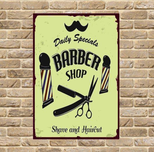 Sugestão de quadro para decorar uma barber shop